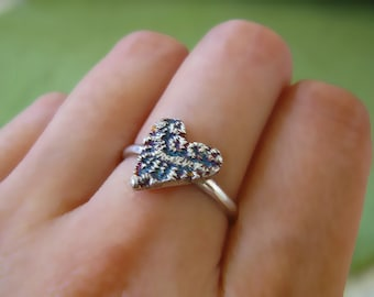 Lace Heart Sterling Silver Ring