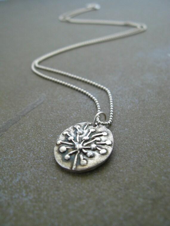 Wish Silver Dandelion Necklace