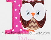Personalized Owl Birthday Shirt, Number, Monogrammed, Custom Colors, Girls Birthday Shirt, Shirt,Tank,Bodysuit,Romper, 3m up to 12 yrs,Gift