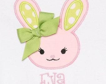 Bunny Shirt, Easter Shirt, Baby Easter Shirt, Bunny Baby Shirt, Girls Easter Shirt, Kids Easter Clothes, Pink Bunny Shirt or Bodysuit