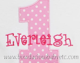 Personalized Birthday Shirt, Birthday Number Shirt, Girls Birthday Shirt, Custom First Birthday Shirt, Custom Birthday Bodysuit, Cake Smash