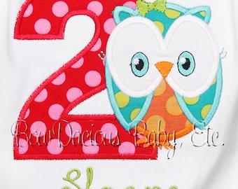Owl Birthday Shirt, Custom Owl Birthday Shirt, Personalized Owl Birthday Shirt