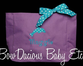 Personalized Swim Tote Bag, Girls or Boys, Custom Colors, Monogrammed,  Personalized, Perfect for Swimming Lessons