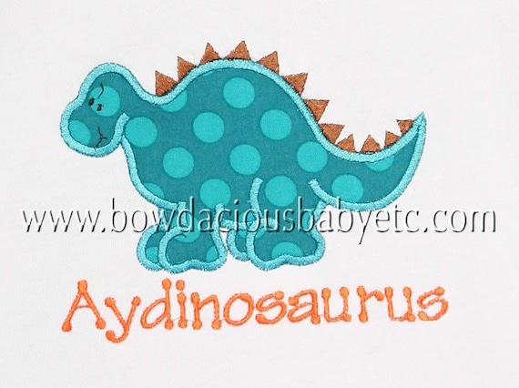 Personalized Dinosaur Shirt, Dinosaur Shirt or Bodysuit, Custom, Free Personalization