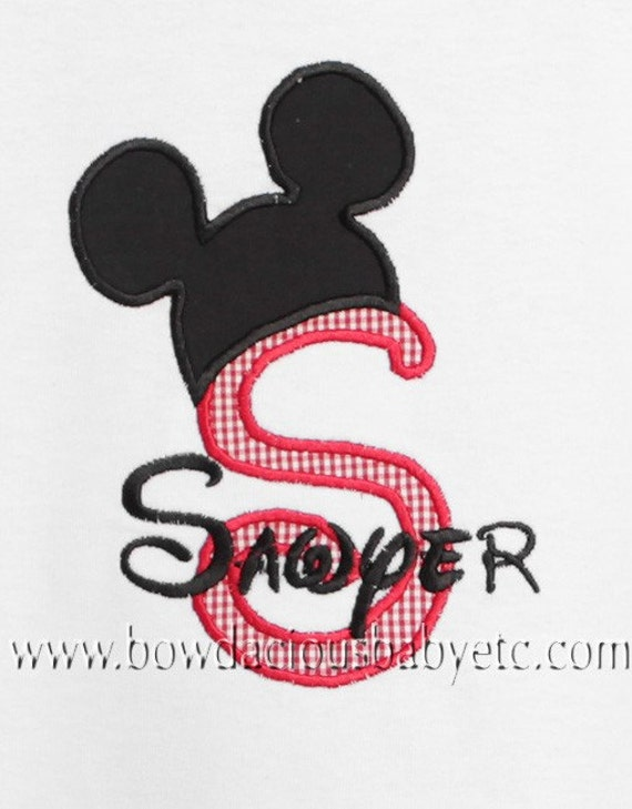 Boys Personalized Monogrammed Mickey Mouse Shirt, Mouse Ears Shirt, Tshirt, Tank, Bodysuit