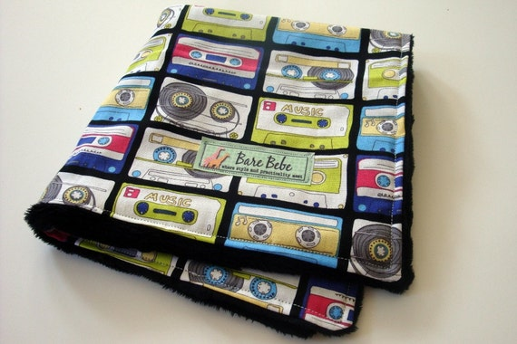 My Little Lovey - Mixed Tapes - Sweet and Cuddly Baby Blanket - READY TO SHIP