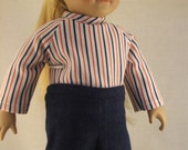 Red, White and Blue outfit fits American Girl Doll