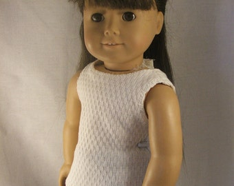 Cream Tank Top for American Girl Doll