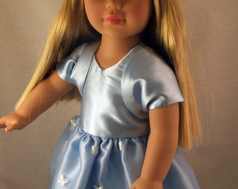 Butterfly Blue Dress for  American Girl