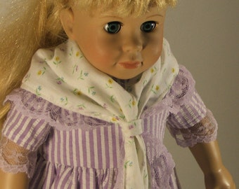 Purple Prairie Dress and Shawl fits American Girl