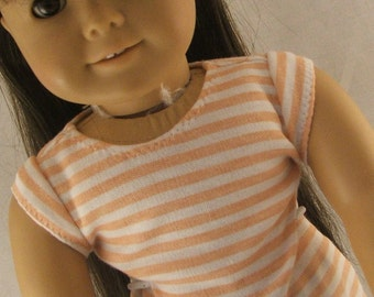 Peaches'n  Cream Tshirt and Black Skirt fits American Girl Dolls