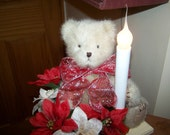 Reserved for kathleenboka CHRISTMAS bear floral light up