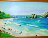 Reserved for AKarver1 Watercolor 11x16 Ocean painting