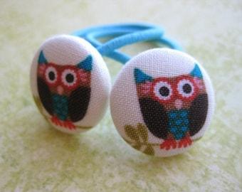 Owl Ponytail Holders Pigtail Hair Tie Set of 2