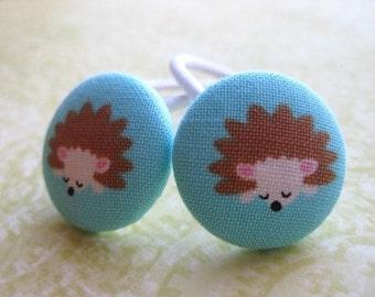 Cute Hedgehogs Ponytail Holders Pigtail Hair Tie Set of 2
