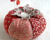 Civil War Reproduction Print Patchwork Tomato Pincushion- Made to Order