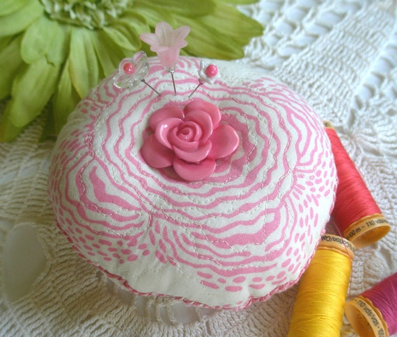 Big Rosy Pink Pincushion
