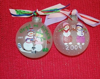 Custom Snowmen  Ornament SAMPLE