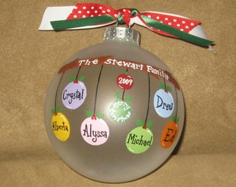 2-4 name Personalized Family Ornament