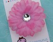 Pretty Princess Pink Gerbera Daisy Flower Hair Clip