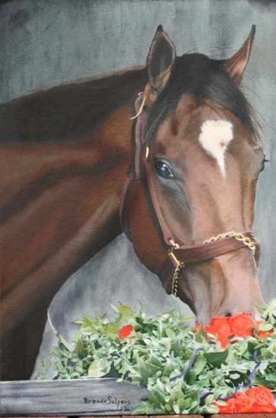 Barbaro churchhill Downs Giclee Print from original oil painting of Barbaro Kentucky Derby Winner