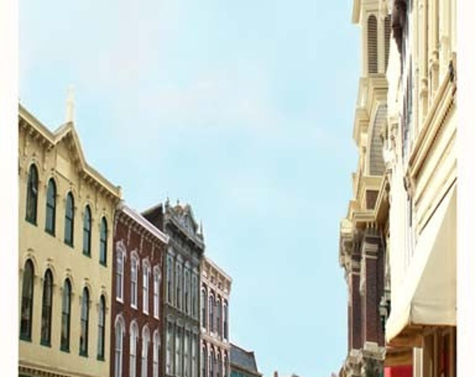 Kentucky, Georgetown Small Town  Giclee Print on Fine Art canvas or paper.