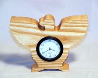 Solid Ash Eagle Mini Clock