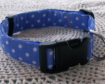Polka Dot Adjustable Dog Collar