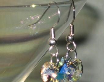 Swarovski Heart Crystal Earrings
