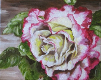 SALE - Peace Rose Oil Painting