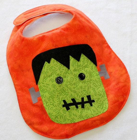 Halloween Frankenstein monster Baby Bib