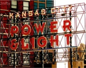 the power and light district in kansas city, missouri 8x10 photo