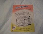 Vintage Aunt Martha's hot iron transfers 3579 Fairy Tea Towel