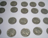 20 Buffalo Indian Head Nickels With Dates Circulated Price Reduced Free Shipping