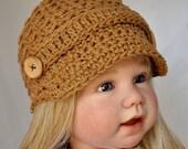 Cotton News Boy Hat in size  6 to 12 months