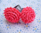 Hot Pink Duct Tape Rose Ring - Neon Duck Tape Jewelry