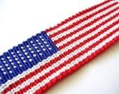 American Flag Friendship Bracelet - Ready to Ship