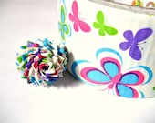 Butterfly Print Duct Tape Rose Ring - Colorful Duck Tape Ring