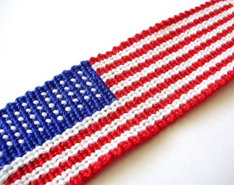 American Flag Friendship Bracelet - Made to Order