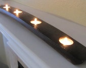 5 Tea Light Wine Barrel Candle Holder 28 inches