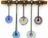 Glass Suncatcher in Purple, Green and Yellow
