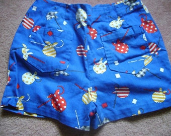 SALE vintage picnic shorts was 22.00