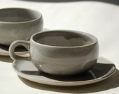 Russel Wright American Modern - Cup and Saucer set (2) - Gray