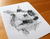 Whimsical Deer Postcard Set of 3