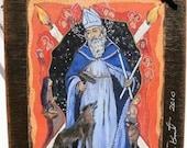 Confirmation Patron St. Saint Blaise Art4thesoul Retablo original art religious catholic christian