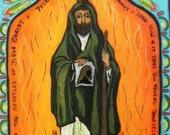 Christian gift for guys Patron of Hopeless Causes - Saint Jude Retablo Spanish Colonial Art