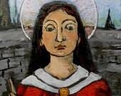 Catholic art Saint Christmas  gift for her St Thecla Woman Apostle for women voice Art4thesoul RETABLO - Print