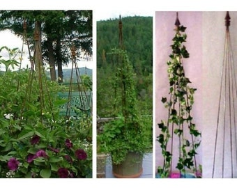 Shipping Included on FOUR Elegant Trellis Towers Set.  All Metal perfect for Clematis, Jasmine, Morning Glory, Tomatoes