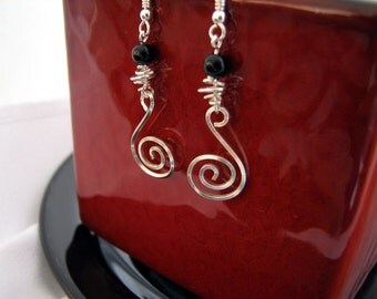 Sterling Silver spiral earrings, simple, beautiful and handmade