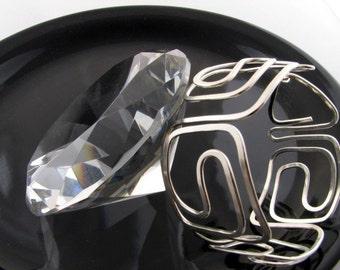 Sterling Silver Bangle bracelet, Handmade Greek Key design inspired and handmade